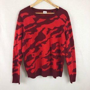 CAbi Camo Sweater XL